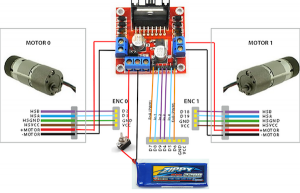 Differential wheel power electronics