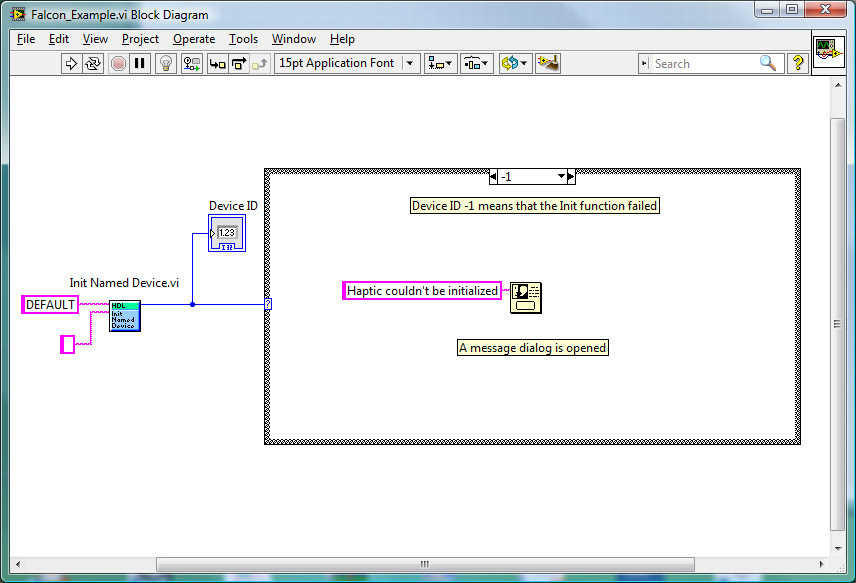 Start Programming a Falcon haptic with LabVIEW
