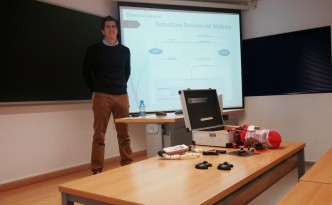 Andrés presenting his Master Thesis