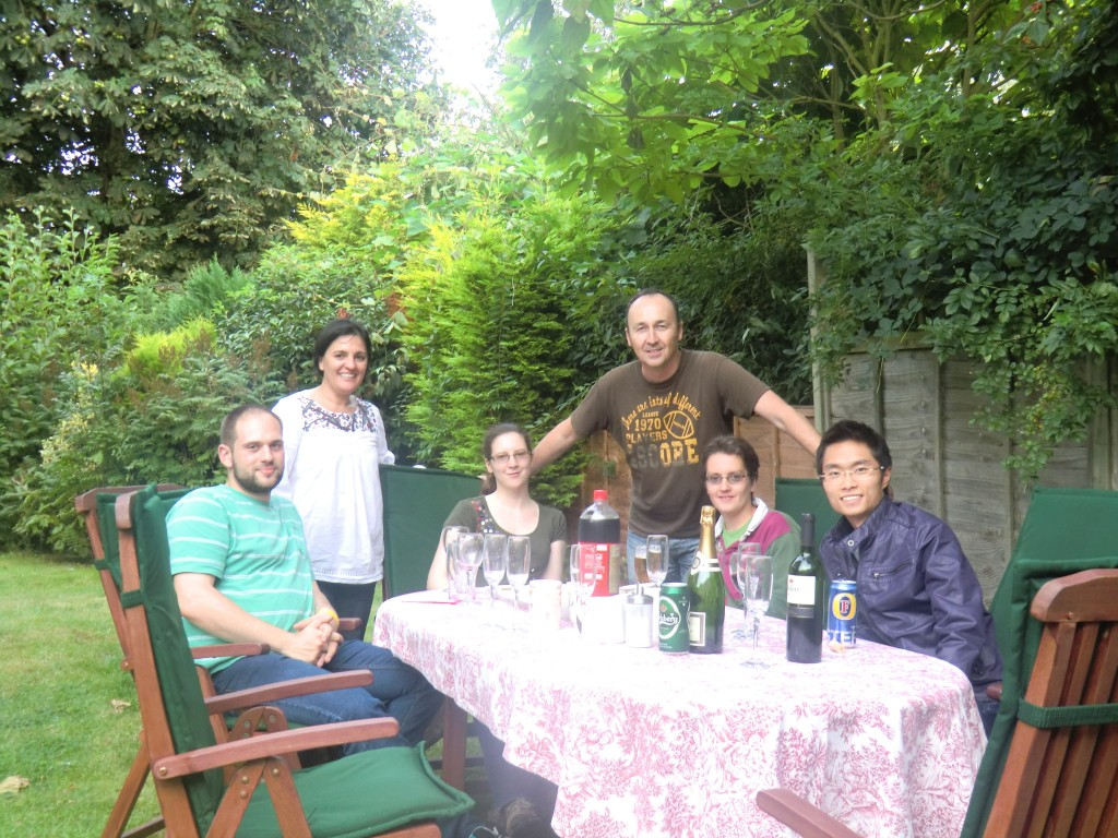 At home with the Lab friends